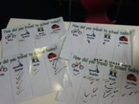 Our active travel tally charts!