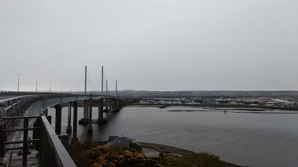 Cycling over the Kessock Bridge