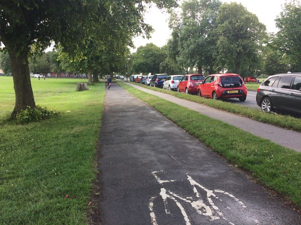 Stoke Road cycle track across the Downs, Bristol