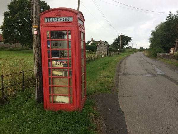 Hill Book Box, old telephone box in Hill, South Gloucestershire